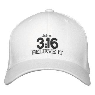 3:16 de JOHN - boné de beisebol