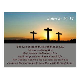 3:16 de John - cartão de memória de 17 escrituras
