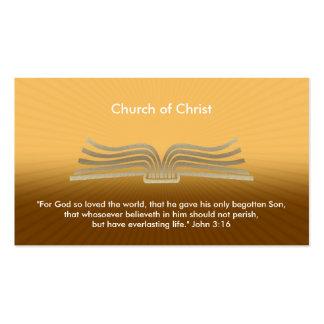3:16 de John - cartão de visita cristão