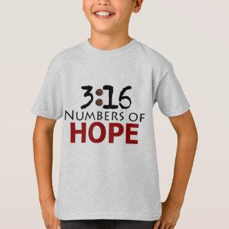 3:16 de John, números de mensagem do cristão da Camiseta