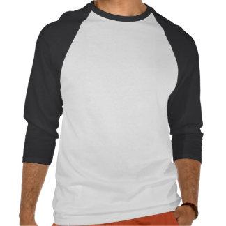 3/4 de Raglan básico da luva, branco/preto Camisetas