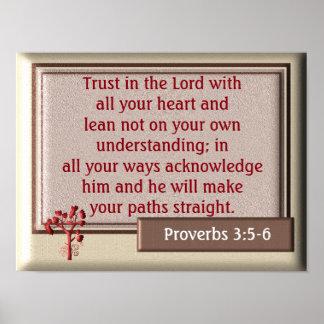3:5 dos provérbio - impressão de 6 ~~art