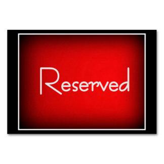 "3,5"" horizontal x 5"" Tablecard reservado, básico"