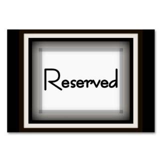 "3,5"" horizontal x 5"" Tablecard, ""reservado básico"