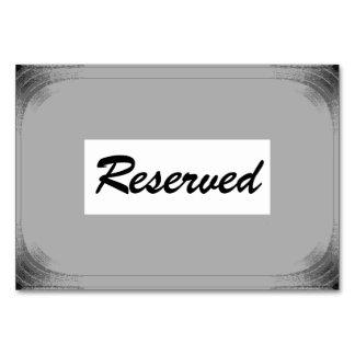"3,5"" horizontal x 5"" Tablecard Reverved"