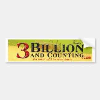 3 bilhões e contagem do título adesivo para carro