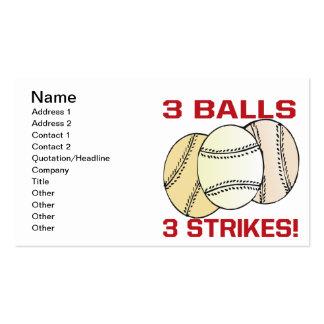 3 bolas 3 greves cartão de visita