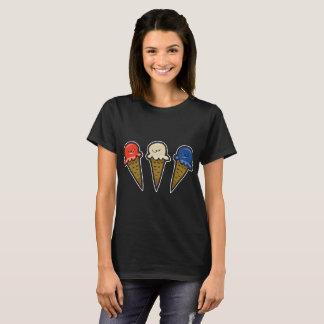 3 cones #1 do sorvete camiseta