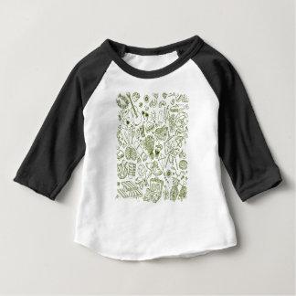 3 de fevereiro - dia do Doodle - dia da apreciação Camiseta Para Bebê
