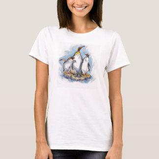 3 espécies de camiseta do pinguim
