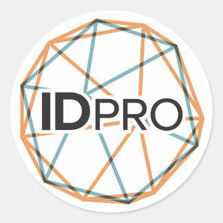 """3"""" etiqueta lustrosa de IDPro"""