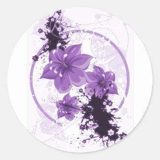 3 flores bonito - roxo adesivo