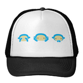 3 macacos sábios boné