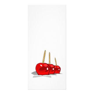 3 maçãs de doces vermelhas 10.16 x 22.86cm panfleto