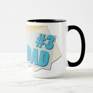 #3 pai - dia dos pais - caneca