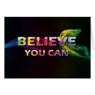 3 palavra Quote~Believe você cartão de