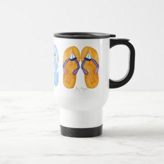 3 pares de canecas & de Drinkware dos flip-flops