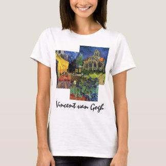 3 pinturas famosas diferentes de Van Gogh do Camiseta