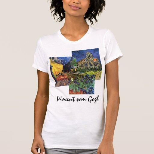 3 pinturas famosas diferentes de Van Gogh do vinta Camisetas