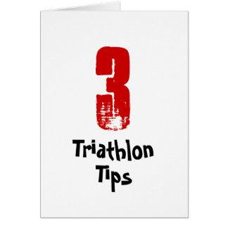 3 pontas engraçadas do Triathlon - cartão de