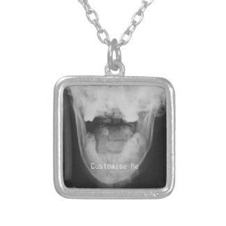 3 radiografados (original) colar com pendente quadrado