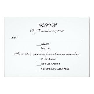 3 resposta da resposta do casamento das escolhas convite 8.89 x 12.7cm