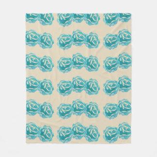 3 rosas da aguarela da cerceta no contexto de Tan Cobertor De Lã