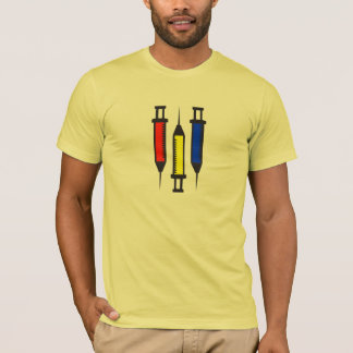 3 seringas preliminares camiseta