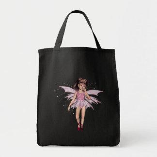 3D duende cor-de-rosa 4 Bolsa De Lona