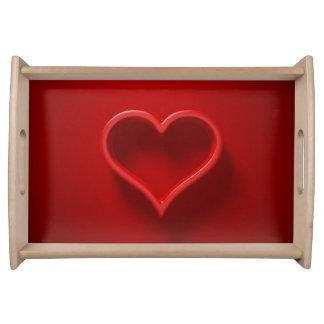 3D-Effekt forma de cardíaco bandeja de quatro de