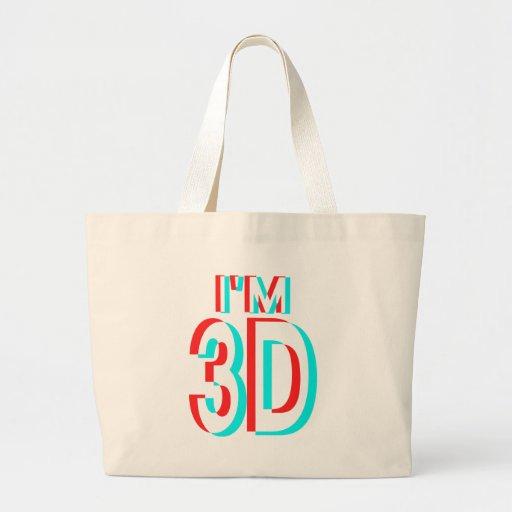 3D que olha eu sou os artigos 3D Bolsas Para Compras