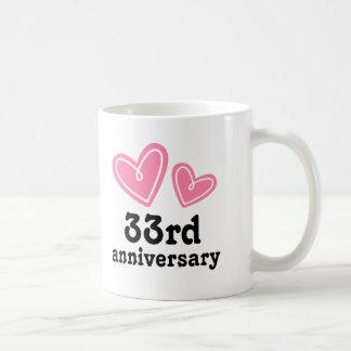 3ó Corações do presente do aniversário Caneca