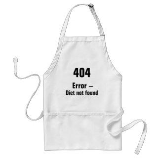 404 erro - avental não encontrado da dieta