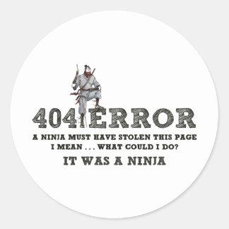 404 Ninja - ReasonerStore Adesivo Redondo