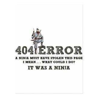 404 Ninja - ReasonerStore Cartão Postal