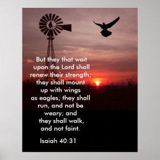 40:31 de Isaiah - impressão da arte