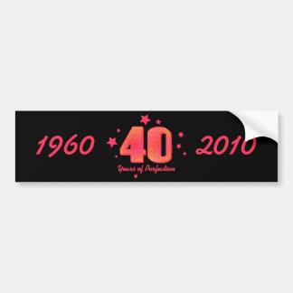 40 anos de envoltório da garrafa de água da perfei adesivo para carro