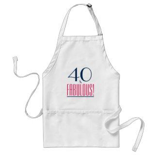 40 e fabuloso! Avental do presente de aniversário