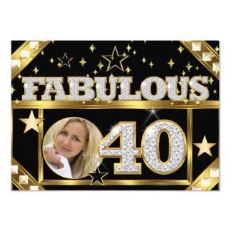 40 fabulosos foto retro 4 do ouro de Hollywood do Convite 11.30 X 15.87cm