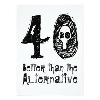 40 melhor do que o aniversário engraçado Q40 do Convite 13.97 X 19.05cm