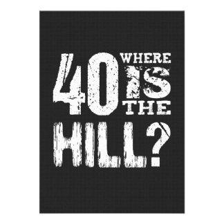 40 onde está o aniversário de 40 anos engraçado convite