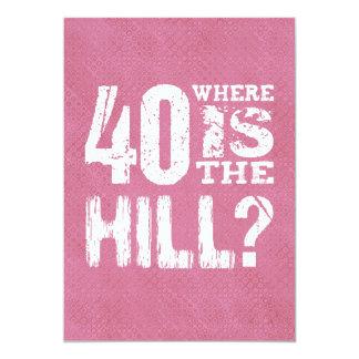 40 onde está o aniversário de 40 anos engraçado convite 12.7 x 17.78cm