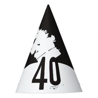 40 para um aniversário de 40 anos chapéu de festa