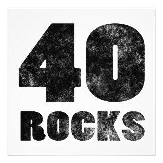 40 rochas convites personalizados