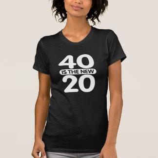 40 são os 20 novos t-shirt