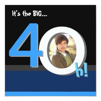 40th 4Oh grande! Festa de aniversário do modelo da Convite Quadrado 13.35 X 13.35cm
