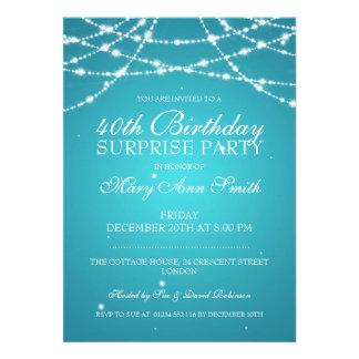 40th A corda da festa de aniversário da surpresa Convites