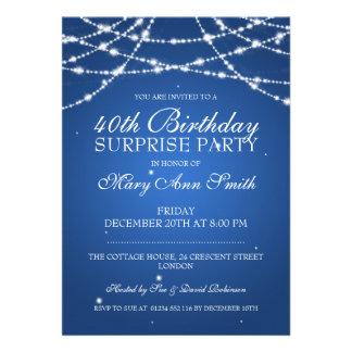 40th A corda da festa de aniversário da surpresa Convite Personalizados