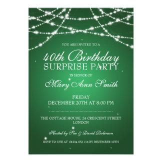 40th A corda da festa de aniversário da surpresa Convites Personalizado