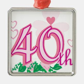 40th aniversário ornamento para arvore de natal